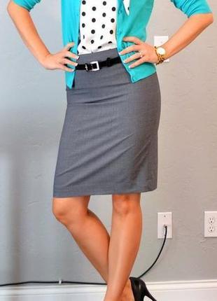 Шикарная юбка карандаш с высокой талией