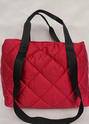 Женская спортивная дутая сумка