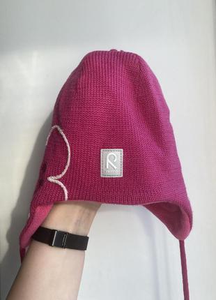 Зимняя шапка рейма на девочку 48 зимова шамочка reima на дівчинку 48