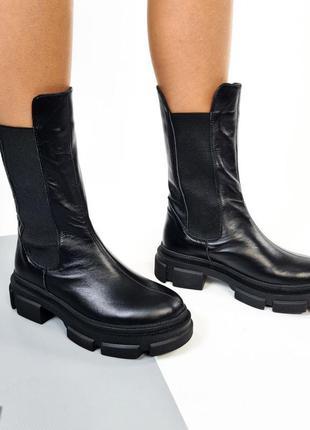 Шикарные ботинки челси натуральная кожа новинка