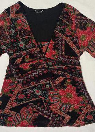 Блуза с узором кофта с узором размер 52-54