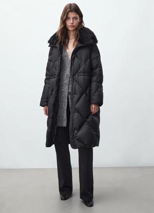 Стильный пуховик пальто от massimo dutti оригинал новый 2022