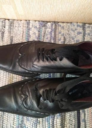 Кожаные ботинки zara. размер 45
