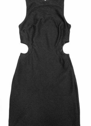 Чёрное платье из фактурной ткани asos