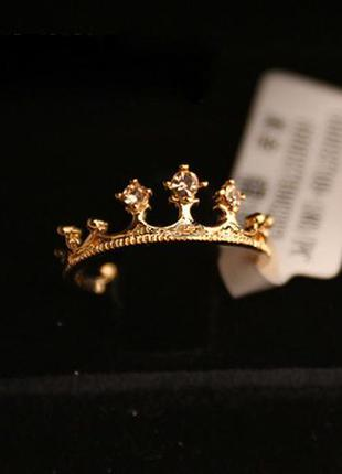 Кольцо корона под золото диаметр 16 мм