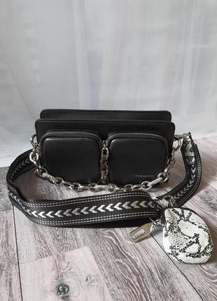 Кожаная стильная сумочка на две стороны от polina & eiterou.