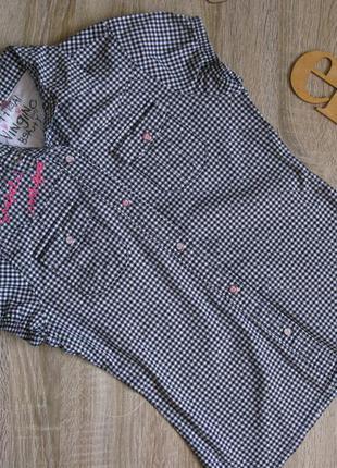 Блуза/ рубашка в клетку рост 152