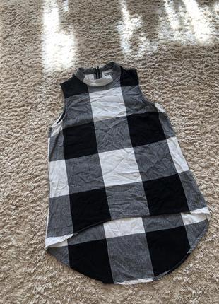 Блузка в клітинку, розмір s-м