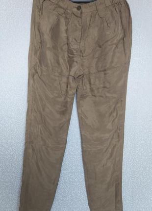 Шелковистые брюки на резинке