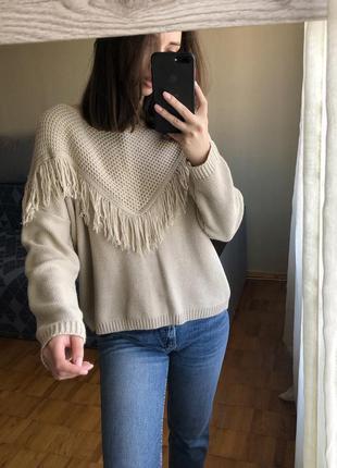 Пудровый свитер reserved