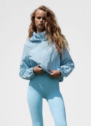 Куртка ветровка zara голубая