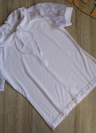Футболка\ блуза школьная рост 122-128