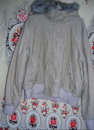 Фирменная женская вельветовая куртка cherokee, размер 18 (50), из сша