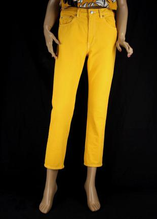 """Брендовые ярко-желтые джинсы """"arket 365 cotton denim"""". размер eur 28 (м)."""