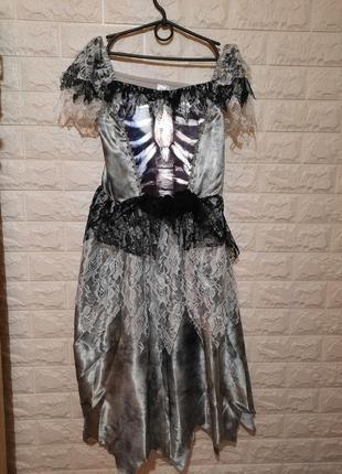 Карнавальное платье ведьмочки, санта муэрта, хеллоуин