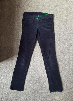 Синие вельветовые штаны