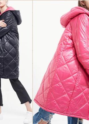 Двухстороннее пальто куртка stradivarius