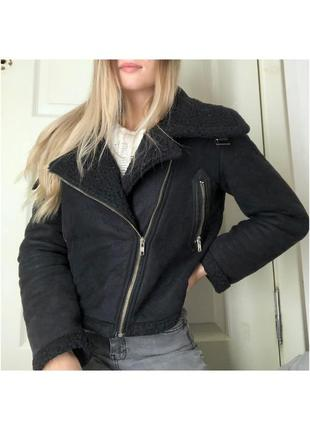 Дубленка авиатор /дубленка косуха куртка