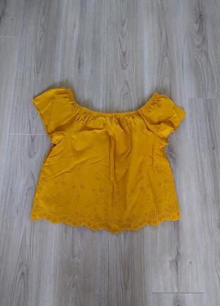 Рубашка выбитая горчица mlxl papaya