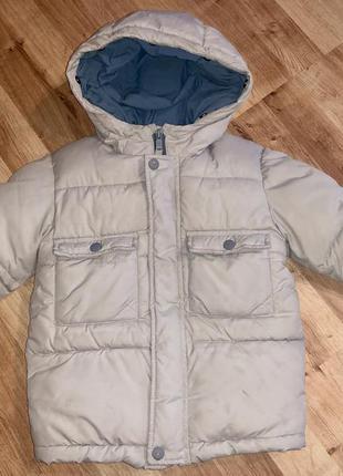 Зимняя светлая куртка zara 104см