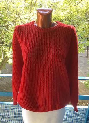 Винтажный красный свитер от benetton