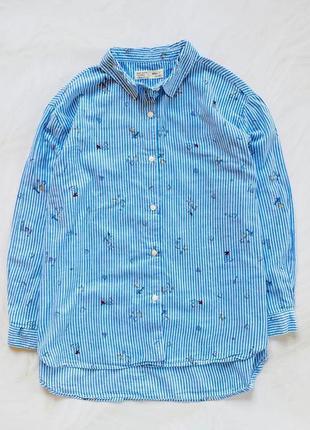Zara  стильная рубашка на девочку   10 лет