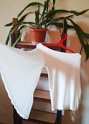 Белая блуза asos на одно плечо