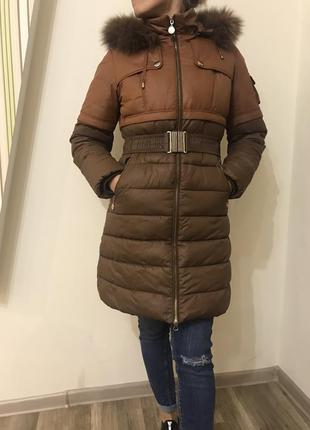 Куртка/пальто/пуховик. розмір м