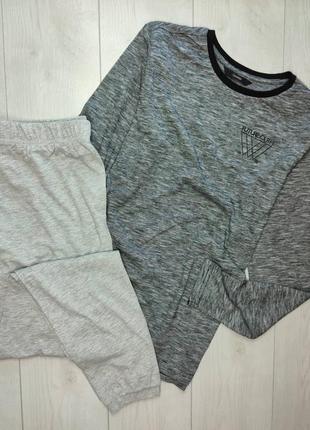Комплект, пижама, лонгслив, штаны, реглан, брюки