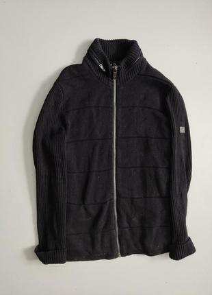 Мужской черный свитер с нейлоновым капюшоном armani exchange