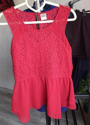 Бордовая кофточка с юбкой