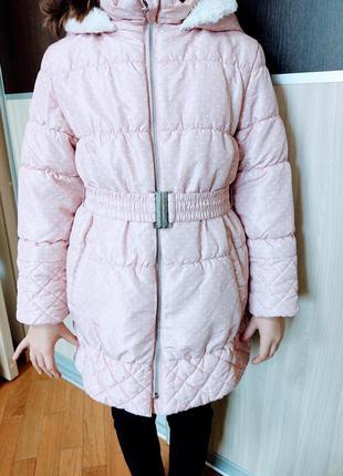 Плащ на 8-9 лет девочка осень- весна-тепоая зима