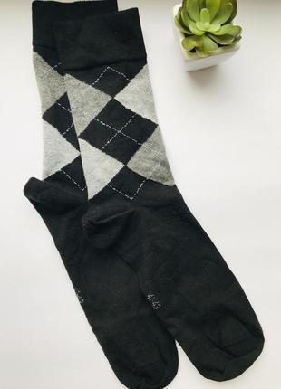 Базовые качественные мужские носки в клетку германия