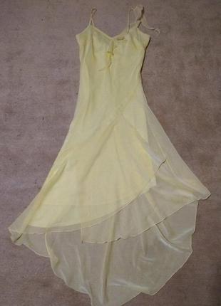 Нежнейшее шифоновое вечернее платье с асимметричным низом от new look