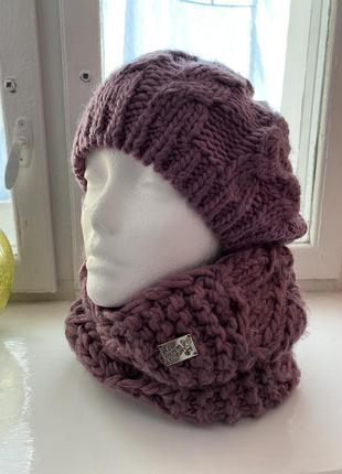 Комплект берет + шарф-хомут