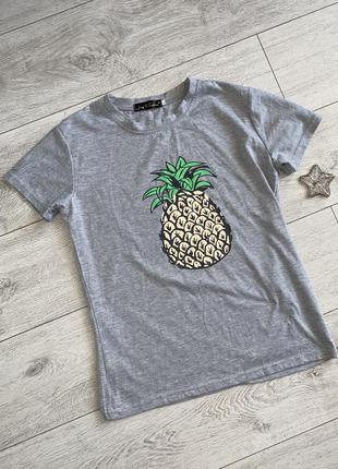 Женская серая футболка l