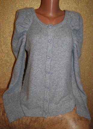 Красивейший очень мягкий свитер кардиган ангора-шерсть