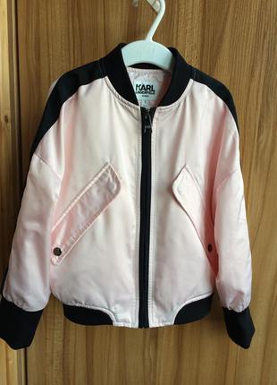 Karl lagerfeld стильная куртка бомбер оригинал