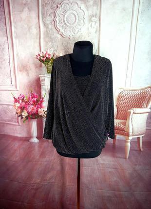 Нарядная блузка с люрексом