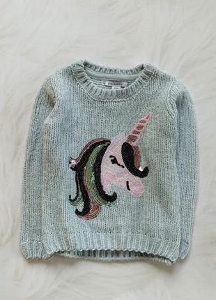 Primark стильный свитер на девочку   3-4 года