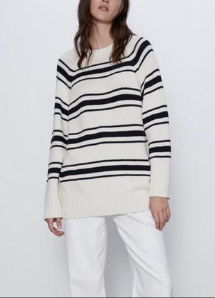 Полосатый свитер zara s