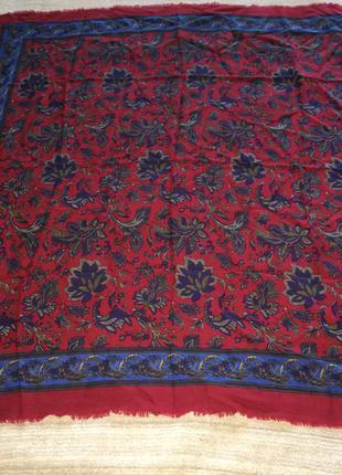 Натуральная шерсть красивая шаль платок