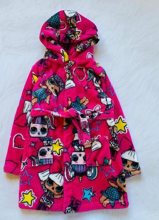 Matalan классный  плюшевый халат на девочку  8 лет