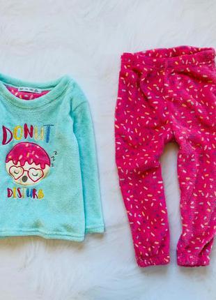 Matalan  классная теплая плюшевая  пижама на девочку  4-5 лет