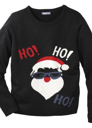 110/116(4-6 лет)новогодний пуловер на мальчика от lipilu