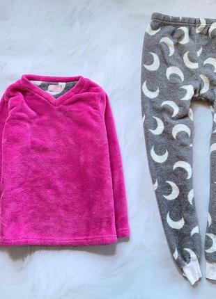 Young dimension  теплая   плюшевая теплая пижама на девочку  9-10 лет