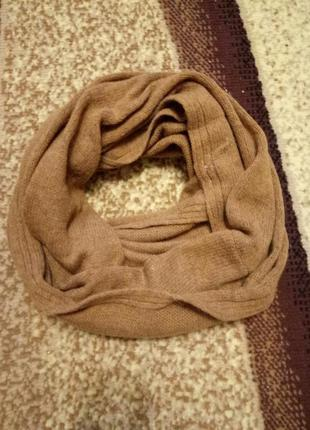 Теплый хомут шарф