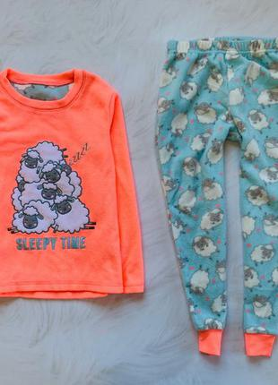 Matalan  теплая флисовая  пижама на девочку 7-8 лет