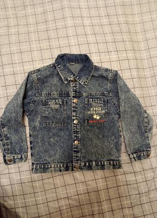 Джинсовый пиджак 140