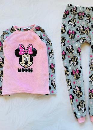 Primark теплая плюшевая пижама на девочку  8-9 лет